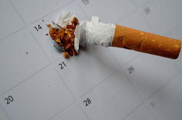 Put out cigarette